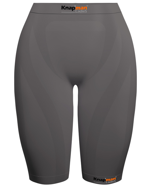 Knap'man Ladies Zoned Compression Short 45% grijs