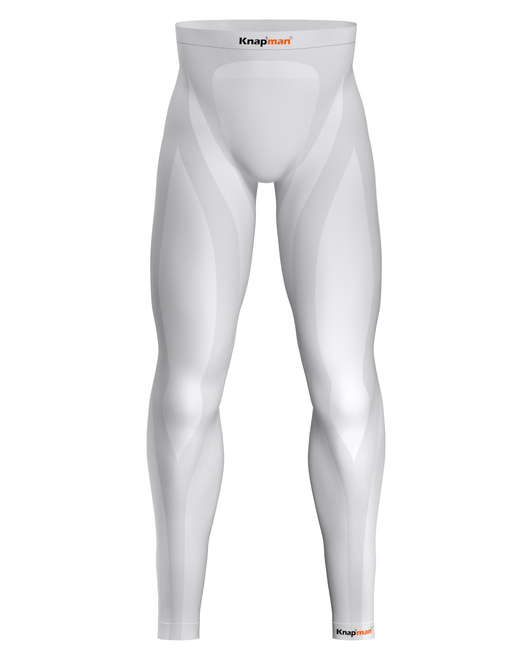 Knap'man Zoned Compression Pants Long 25% wit
